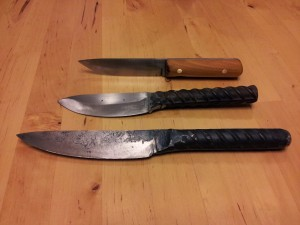 #5 rebar knives and an A2 Tool steel
