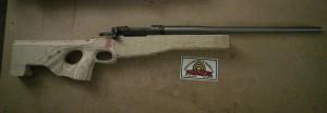"8mm Mauser, 22"" Med. Palma contour."